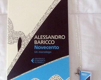 Collana miniatura libro Novecento 900 - Baricco book necklace