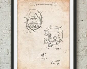 Face Mask Football Helmet 1965 Patent Poster, Football Coach Gift, Vintage Football, Sports Wall Art, Locker Room, PP0419