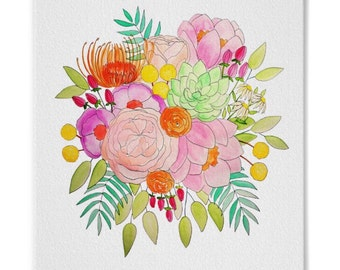 Wild Bouquet // 8 x 10 inch Watercolor Print // Ready to Frame