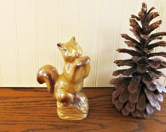 Vintage Lusterware Squirrel Figurine Iridescent Squirrel luminous Squirrel Mid Century Squirrel Woodland Figurine Woodland Decor Cabin Decor