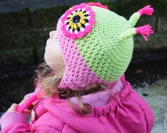 Handmade Crochet Owl hat, Girls hat, little Owl hat, Character Hat, Animal hat