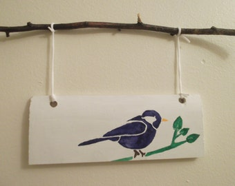 Bird Sign, Bird Decor, Bird Decoration, Nature Sign, Branch Sign, Cottage Sign, Cottage Decor, Cottage Decoration, Woodland Decor