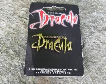 Bram Stokers Dracula 1992 Gold Movie Metal Hat Backpack Flair Vest Pin brooch promo