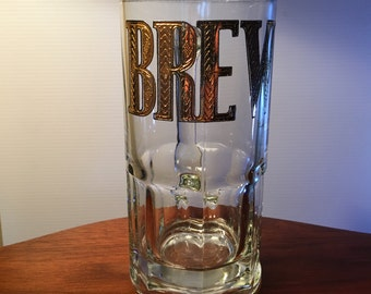 "Culver extra large glass ""Brew"" mug"
