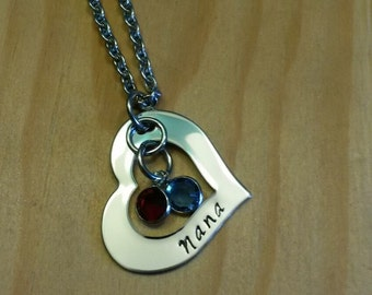 Hand Stamped Personalized Nana Necklace - Nana Gift - Mother Gift - Grandma Gift - Mothers Day Gift - Gifts for Nana