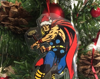 Marvel Mighty Thor - Reversible Christmas/Holiday Ornament Decoration