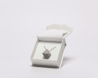 Octahedron - concrete necklace, geometric concrete necklace, concrete jewelry, modern jewelry, contemporary jewelry