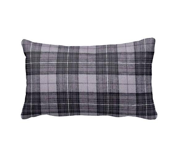 Plaid Throw Pillow Cover Grey Pillow Cover Plaid Pillows Man