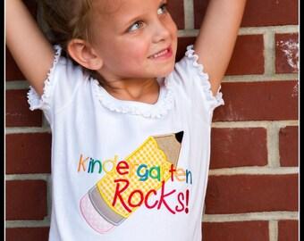 Back to School Shirt, Girls School Shirt, Boys School Shirt, Kindergarten Rocks, Preschool Rocks, Pre-K Rocks, 1st, 2nd, 3rd, 4th, 5th