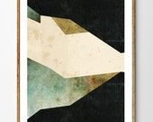 Shapes of Nature - Abstract Print, Abstract Landscape, Geometric Art, Modern Art, Mixed Media Collage, Home Decor