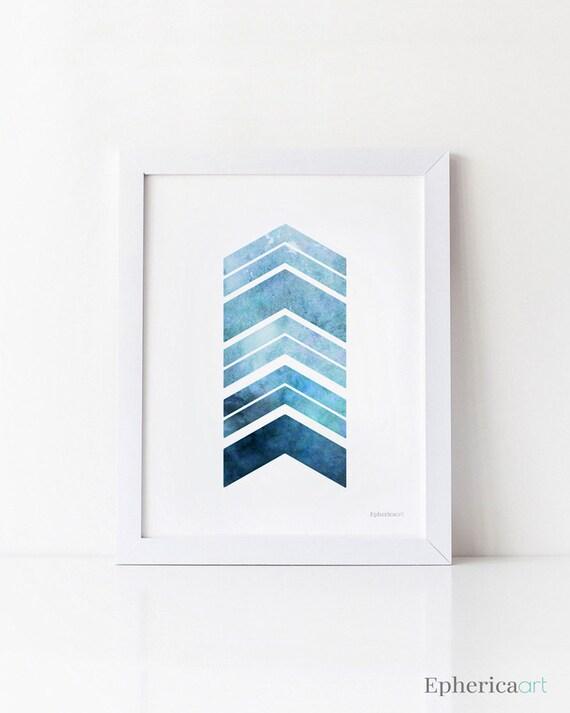 Blue Print Wall Decor : Navy blue art print printable wall arrows