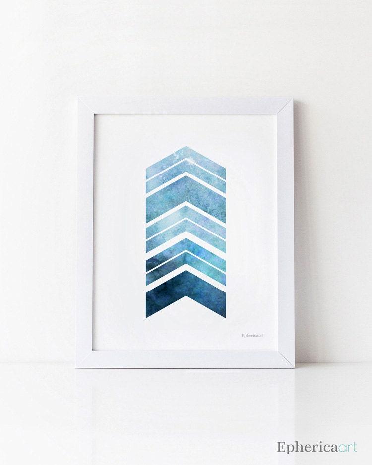 Navy Blue Art Print Printable Wall Art Blue Arrows Print