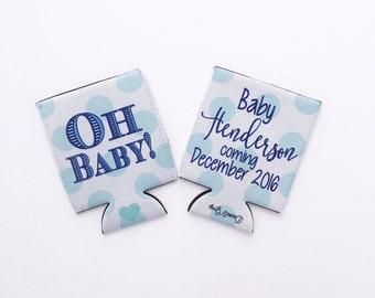 Oh Baby Boy or Girl Shower/Pregnancy Baptism/Birthday Hugger/Can Insulator