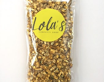 Gold confetti | Wedding confetti | Gold Dust metallic confetti blend