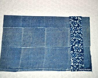 25 pc of Indigo Placemats Block print cotton placemats Mudcloth tablemats