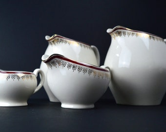 Royalty Alfred Meakin Dinner Service Spares Water Pitcher Milk Jug Creamers Vintage Housewares Gravy Boat Tableware