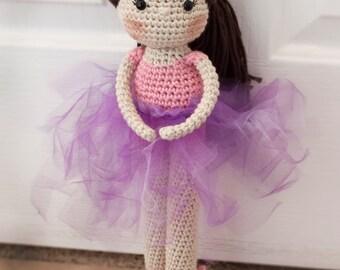 Handmade Crocheted  Ballerina Doll