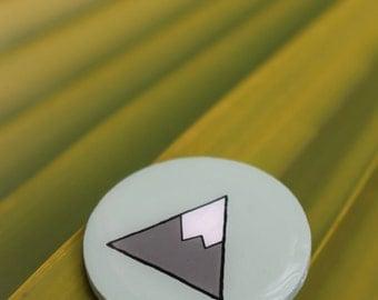 Mint Mountain Wooden Pin