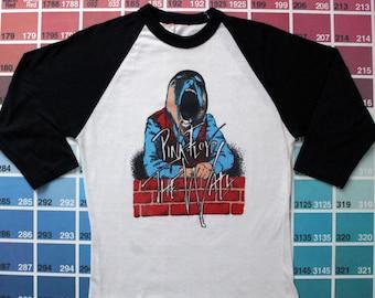 Vintage Pink Floyd The Wall t shirt | Pink Floyd t shirt | Pink Floyd raglan tee shirt | 1982 The Wall movie t shirts | band tshirts men xs