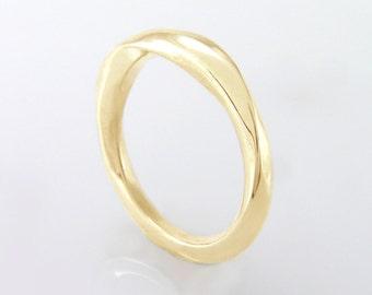 Mobius ring, yellow gold Mobius Wedding Band,Mobius Wedding Ring,14k Mobius Wedding Band,Gold Mobius Wedding Band