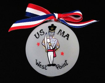 West point Military academy,USMA,West point girlfriend, personalized Christmas ornament,military,army cadet,west point grad