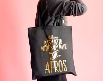Formation Gold Foil Tote Bag - Baby Hair and Afros