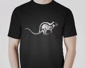 Rat Skeleton T-shirt. Original Animal Punk Gothic Skull Bones Taxidermy Black Graphic Tee Unisex 100% Cotton Tshirt S,M,L,XL,XXL,3XL