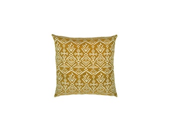 Pillow cover,yellow pillow cover,Decorative pillow cover,throw pillow,white pillow cover,accent pillow,Cushion cover,ikat pillow,Any Size