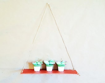 Copper Floating Reclaimed Swing Rope Wood Twine Rope Shelf Shelving Home  And Living