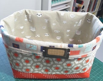 Fabric Basket with  Cuff