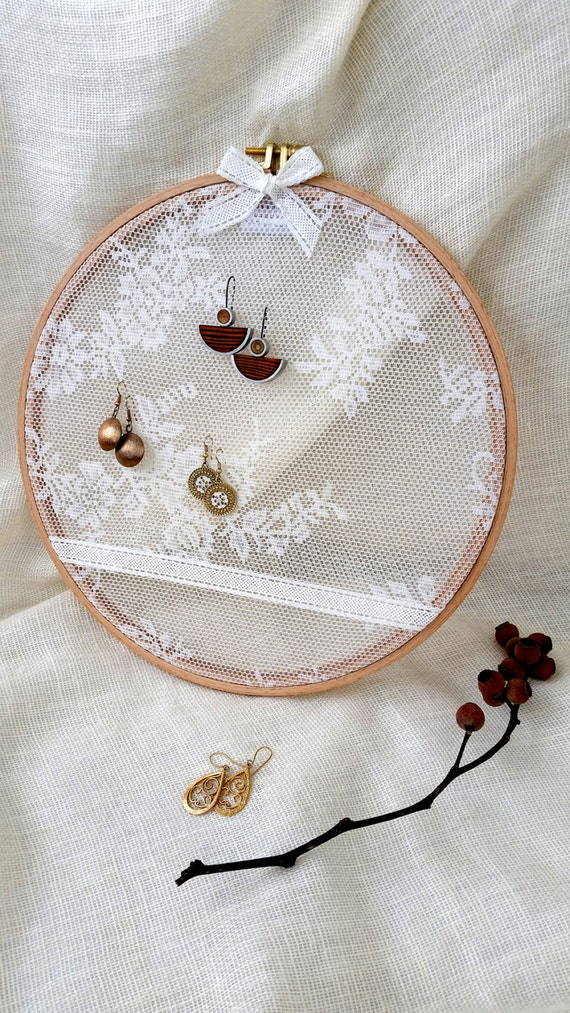 Earring rack holder stand embroidery hoop