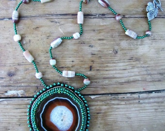 Natural Agate Necklace