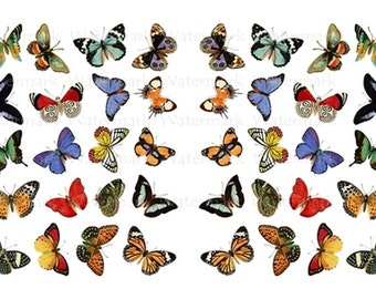 Butterfly Water-Slide Decals, Decorate Flame-less Candles, Soap, Glass, Home Decor, Magnets, Jewelry, Craft Projects, Scrapbooks