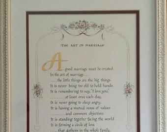 ART OF MARRIAGE, Framed for Bride/Groom