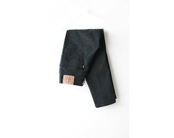 1990's Levi's 512 High Waist Black Denim Skinny Jeans