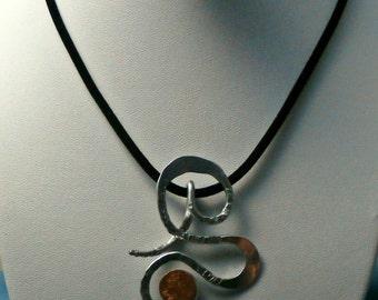 aluminum and copper pendant