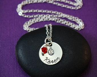 SALE - Ladybug Necklace - Little Girl Necklace - Ladybug Jewelry - Ladybird Necklaces - Birthday Party Favor - Gardener Gift - Lady Bug