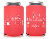Bride Tribe Bachelorette Party Favors -  bachelorette coolies. bachelorette can coolers, mountain bachelorette, bachelorette favors