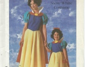 UNCUT Simplicity 7735 Disney Snow White Costume Pattern Adult Size Small