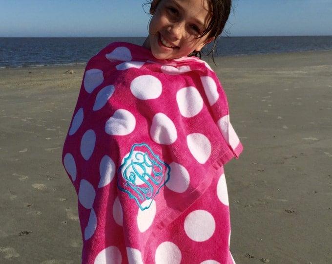 Monogrammed Beach Towels, Monogram gifts, Monogram Beach Towels