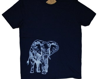 Mens T Shirt - Elephant Tshirt - Animal Tee - Funny T Shirts - African Tees - Mens Tee Shirt - T-Shirts for Men S M L XL XXL
