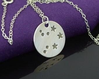 Sterling Silver Libra Necklace, Libra Necklace, Sterling Silver, Libra Constellation, Libra Jewelry, Zodiac Pendant, Libra Necklace