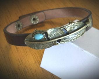 Leather Bracelets, Native American Jewelry, Audubon Jewelry, Turquoise Jewelry, Feather Jewelry, Brass Jewelry, Bracelets, Turquoise