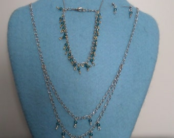 All faceted blue