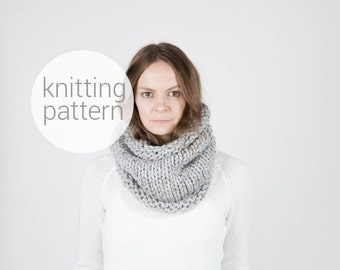 Pattern / Ozetta Knitted Cowl Scarf Pattern Instant Download For The Kodiak Cowl