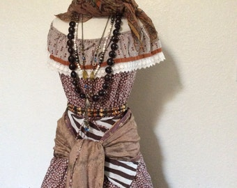 Adult Women's Fortune Teller / Pirate Halloween Costume - Small