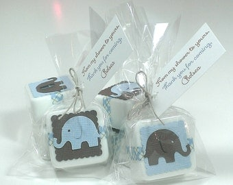 24 baby shower favors elephant theme baby shower decor baby shower favors boy