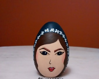Hand Painted Wooden Egg, Persian, Norooz eggs, Persian New Year, Persian art, Nowruz eggs, Iranian new year, haft sin, norooz egg haft seen