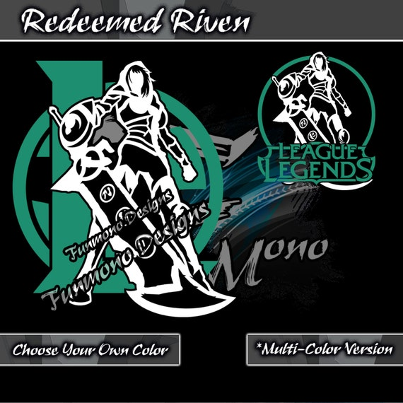Redeemed Riven Decal League of Legend Series Multi-Color