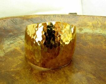 Gold Textured Cuff  Bracelet Avon Vintage Bracelet